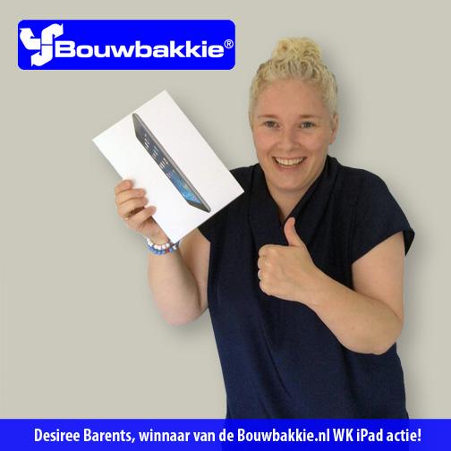 Winnaar van de Bouwbakkie.nl WK actie bekend