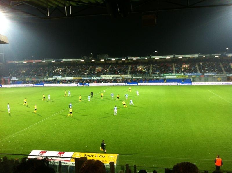 Bouwbakkie led boarding bij PEC Zwolle